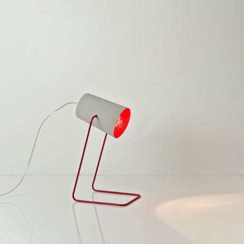Table lamp / contemporary / steel / in Nebulite® MATT : PAINT T CEMENTO in-es artdesign