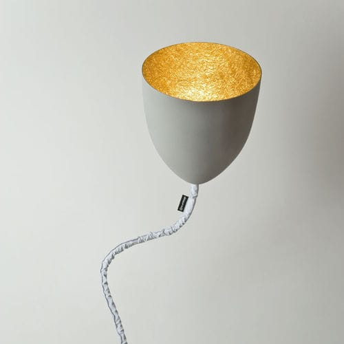 Floor-standing lamp / contemporary / cast iron / steel MATT : FLOWER CEMENTO in-es artdesign