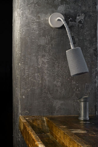 Contemporary wall light / wool / steel / nylon TRAME : PAINT A STRIPE in-es artdesign