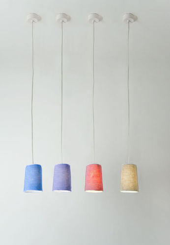 Pendant lamp / contemporary / in Nebulite® / wool TRAME : PAINT STRIPE in-es artdesign
