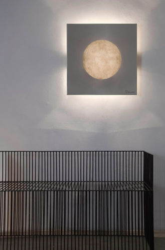 Contemporary wall light / steel / in Nebulite® / halogen LUNA : WASHMACHINE in-es artdesign