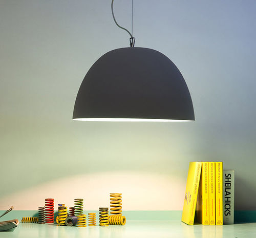 Pendant lamp / contemporary / steel / in Nebulite® MATT : H2O CEMENTO in-es artdesign
