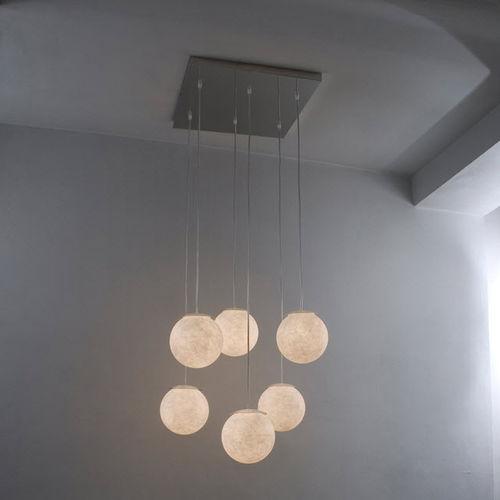 Pendant lamp / contemporary / steel / in Nebulite® LUNA : SEI LUNE in-es artdesign