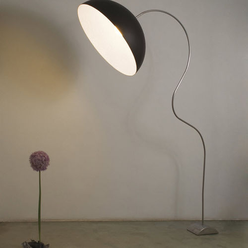 Floor-standing lamp / contemporary / cast iron / steel LUNA : MEZZA LUNA PIANTANA in-es artdesign