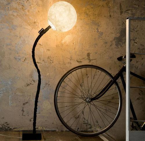 Floor-standing lamp / contemporary / cast iron / steel LUNA : MICRO LUNA PIANTANA in-es artdesign