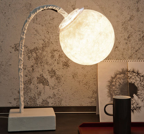 Table lamp / contemporary / cast iron / steel LUNA : MICRO T LUNA in-es artdesign