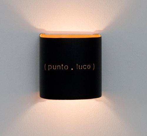Contemporary wall light / steel / in Nebulite® / halogen LUNA : PUNTO LUCE in-es artdesign