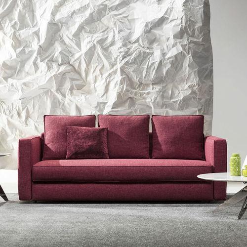 Sofa Bed Contemporary Leather Fabric Robinson Berto Salotti