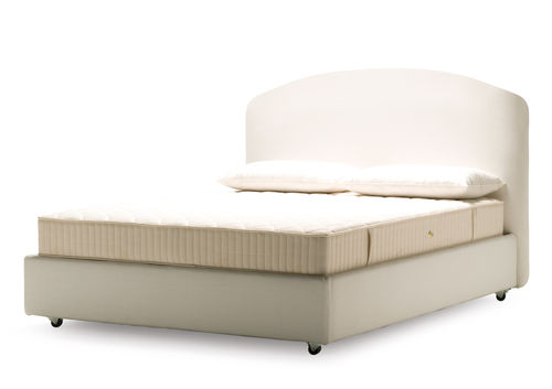 double bed / traditional / upholstered / with upholstered headboard