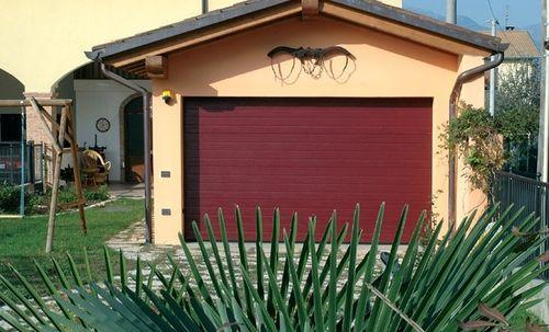 sectional garage door / steel / automatic