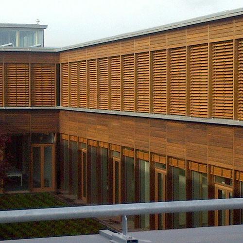 Venetian blinds / wooden / outdoor / commercial