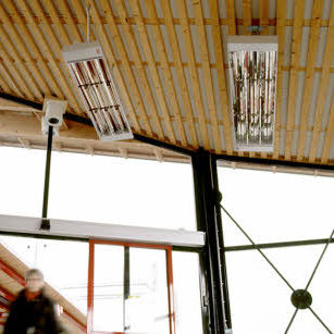 hanging infrared heater / electric / commercial