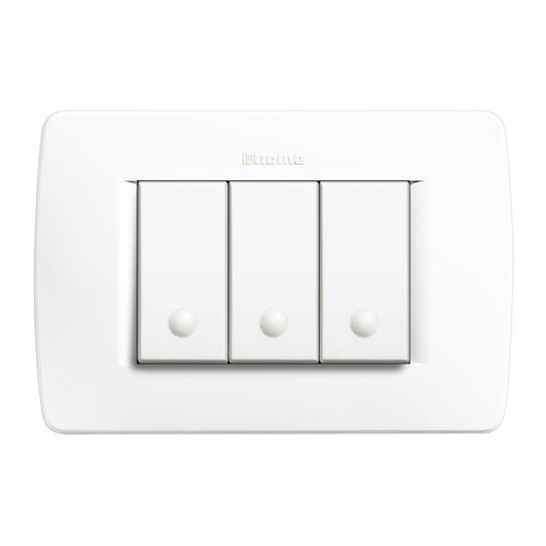light switch / push-button / triple / contemporary