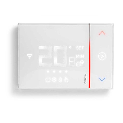 digital thermostat / wall-mounted / for heating / for home automation systems