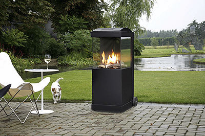 Wood-burning fireplace / contemporary / closed hearth / central THE BUZZ dim\'ora
