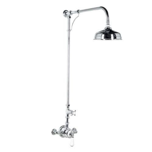 wall-mounted shower set / contemporary / rain / thermostatic