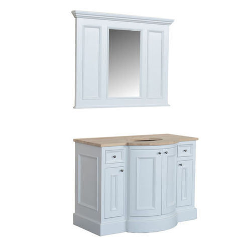 free-standing washbasin cabinet / oak / marble / traditional