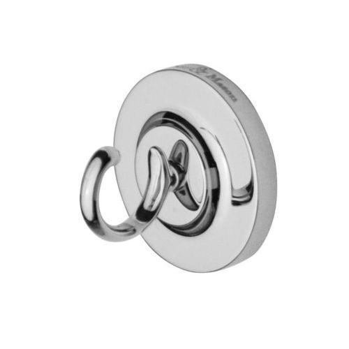 contemporary robe hook / stainless steel / single / bathroom