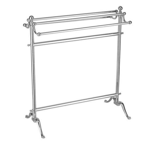 more than 3 bars towel rack / floor-standing / metal / for hotels
