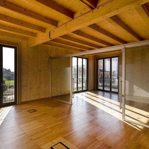 wooden raised access floor tile / non-slip / indoor