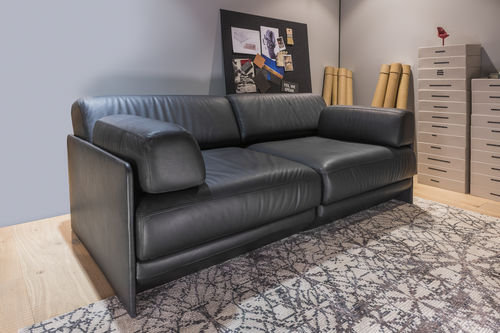 modular sofa / bed / contemporary / leather