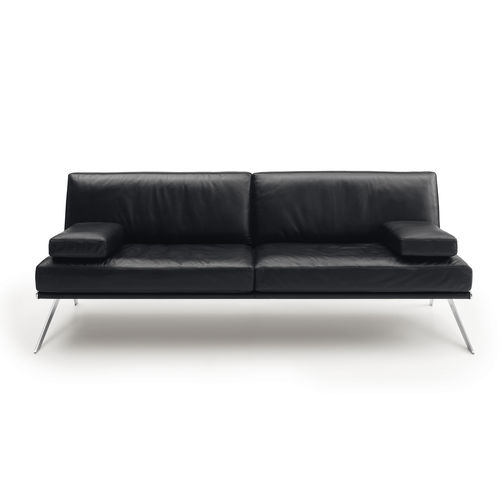 Contemporary sofa / leather / stainless steel / 3-seater DS-60 by Gordon Guillaumier de Sede AG