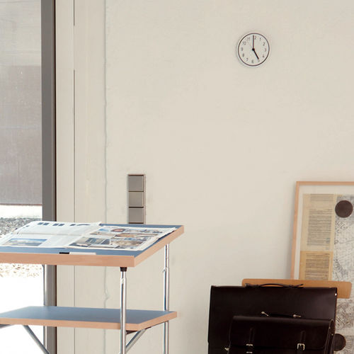 Contemporary clock / analog / wall-mounted / aluminum ALU ALU by Jochen Gros Richard Lampert