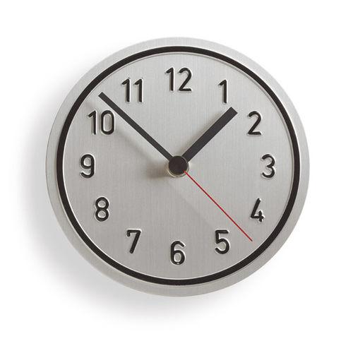 Contemporary clock / analog / wall-mounted / aluminum ALU ALU by Jochen Gros Richard Lampert