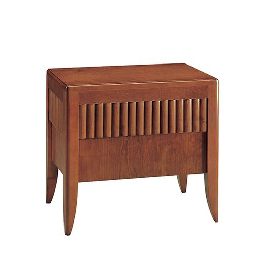 traditional bedside table / walnut / cherrywood / rectangular
