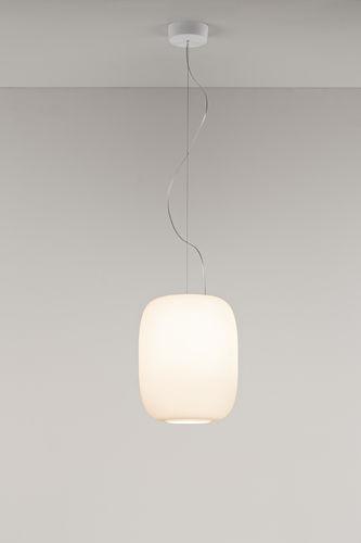 Pendant lamp / contemporary / blown glass / white SANTACHIARA PRANDINA