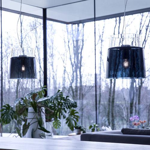 Pendant lamp / contemporary / blown glass / white VESTALE PRANDINA