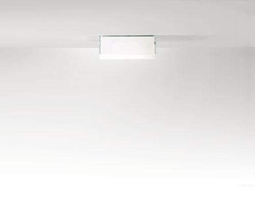 Contemporary ceiling light / square / rectangular / glass ARGENTUM PRANDINA