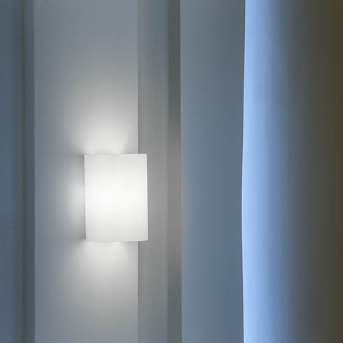 contemporary wall light / painted metal / blown glass / fluorescent