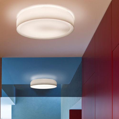 Contemporary ceiling light / round / glass / LED MINT PRANDINA