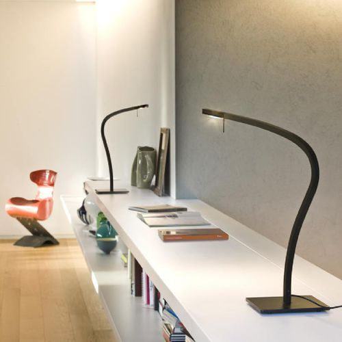 table lamp / contemporary / painted aluminum / PMMA