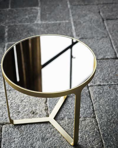Nice Contemporary Side Table / Metal / Round / Square. CAGE By Gordon  Guillaumier Tacchini