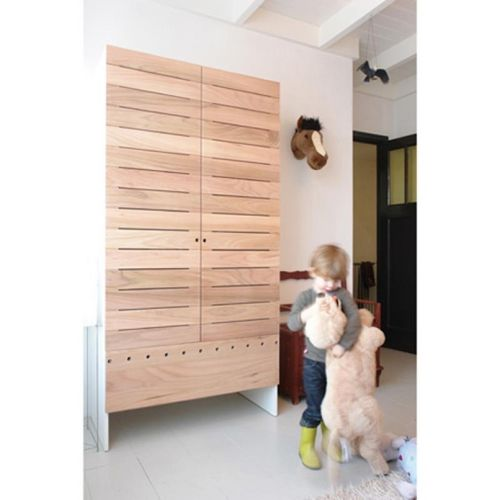 contemporary wardrobe / wooden / with swing doors / child's