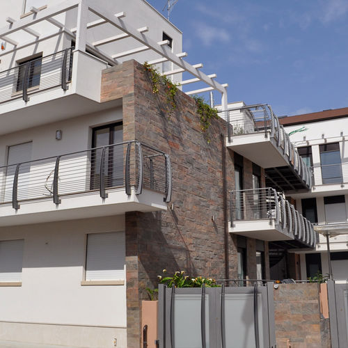 stone wall cladding panel / exterior / textured / decorative