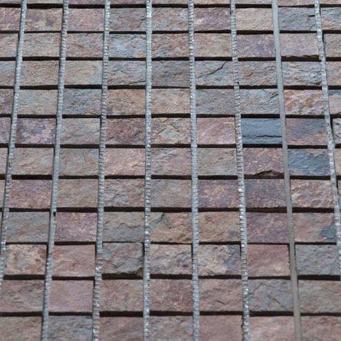 indoor mosaic tile / floor / slate / geometric