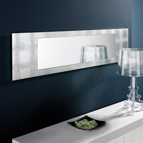 wall-mounted mirror / contemporary / rectangular / wood with gold leaf finish