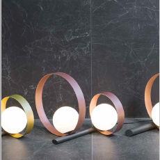 table lamp / original design / metal / glass