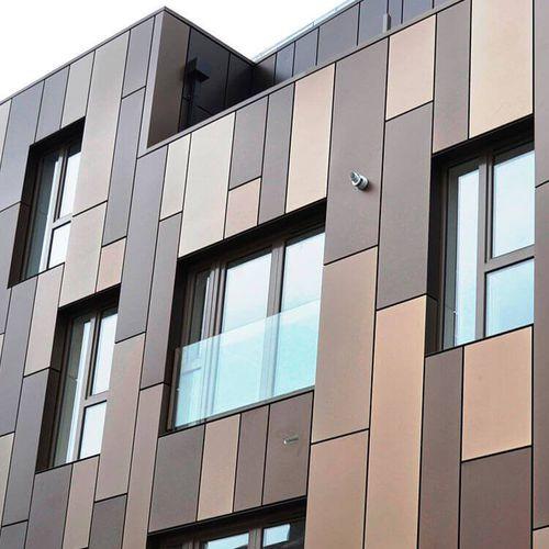 aluminum ventilated facade / zinc / copper / stainless steel