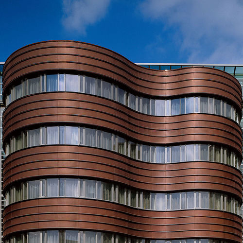 copper cladding / matte / patina / panel