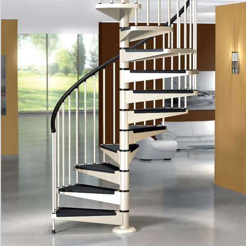 Spiral staircase / metal steps / metal frame / without risers STAR Mobirolo