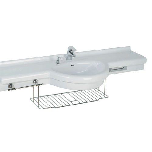 wall-mounted washbasin / Pietraluce® / contemporary / with counter