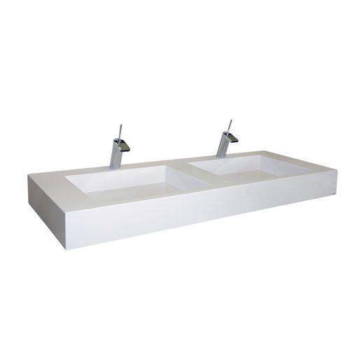 double washbasin / wall-mounted / rectangular / Pietraluce®