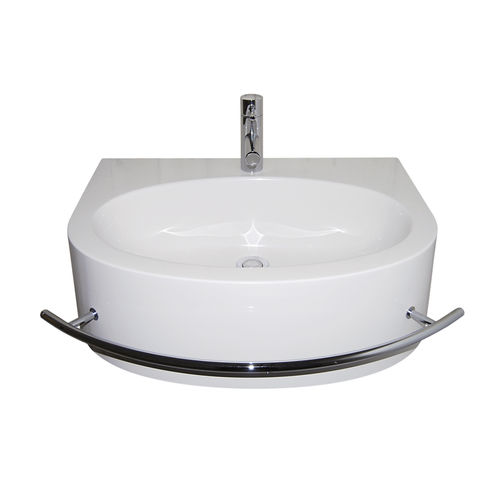 wall-mounted washbasin / Pietraluce® / contemporary / with towel rack