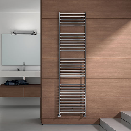 hot water towel radiator / stainless steel / contemporary / bathroom