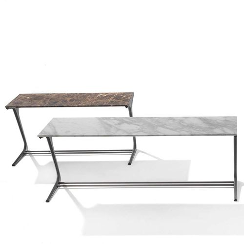 contemporary sideboard table / wooden / marble / rectangular
