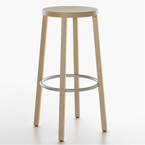 Contemporary bar stool / ash / lacquered wood / stained wood BLOCCO PLANK